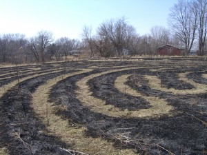 Labyrinth spring prairie burn 03/09/12
